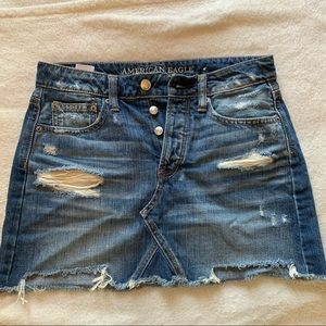 American Eagle - Ripped Jean Skirt